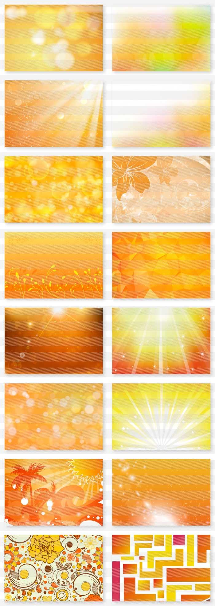 赤色・オレンジ色系の背景素材集| illustratorの背景素材集